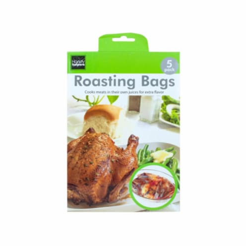 Kole Imports HX454-24 15 x 9.75 in. Roasting Bags, 5 Piece - Pack of 24 Perspective: front