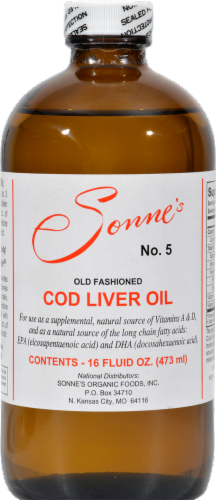 Sonne's Cod Liver Oil 5 Perspective: front