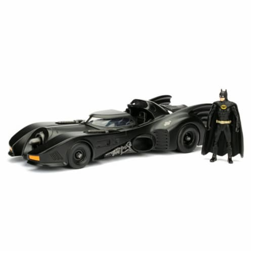 Batmobile with Diecast Batman Figure Perspective: front