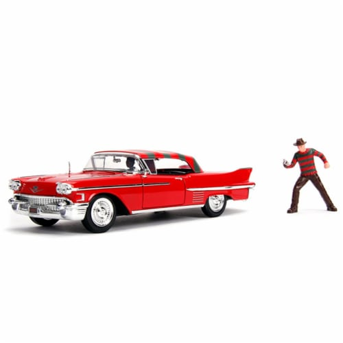 1 by 24 Scale A Nightmare on Elm Street Car for 1958 Cadillac Series 62 with Freddy Krueger, Perspective: front