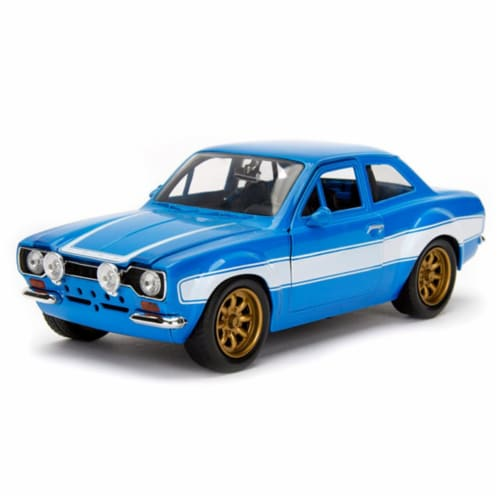 Brians Ford Escort MK1 - Fast & Furious 6 Diecast Car - Blue & White Perspective: front