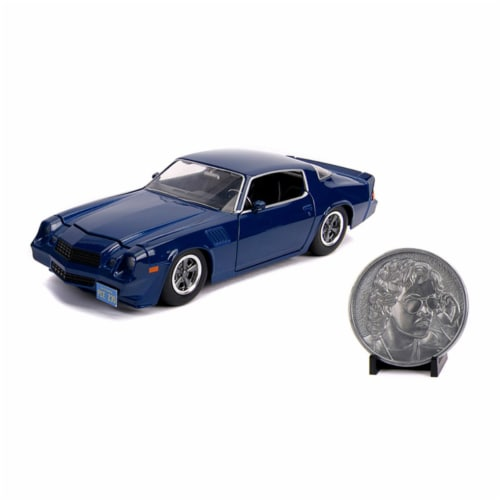 1 by 24 Scale Stranger Things Billys Diecast Model Car for Chevy Camaro Z28 with Collectible Perspective: front