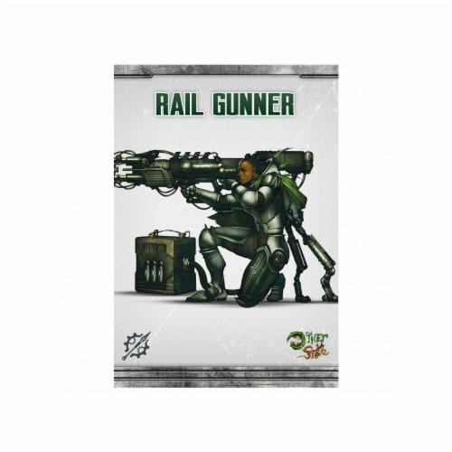 the Other Side Abyssinia Rail Gunner Miniature Game Perspective: front