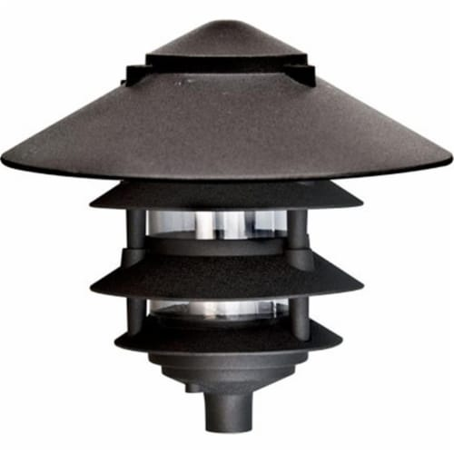 10 in. Four Tier Pagoda Light - 7W 120V, Bronze Perspective: front