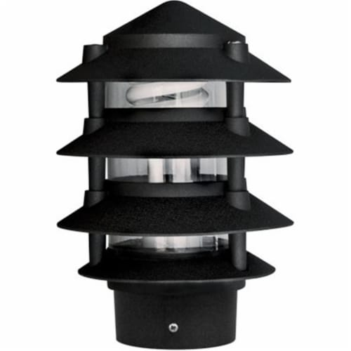 3 in. Four Tier Pagoda Light - 7W 120V, Black Perspective: front