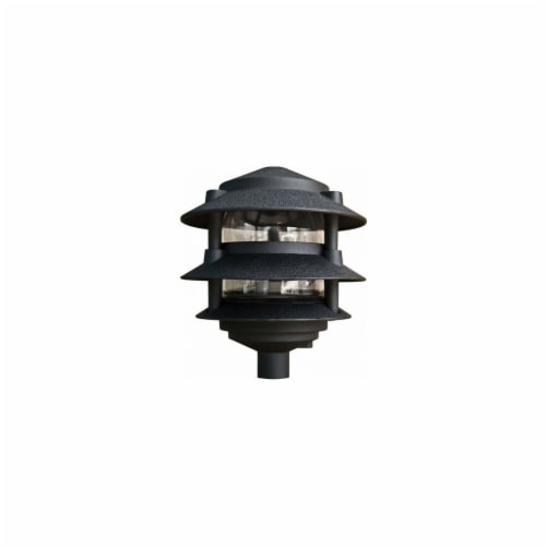P-D5000-6T-B 6 in. 3-Tier Pagoda Light, Black Perspective: front