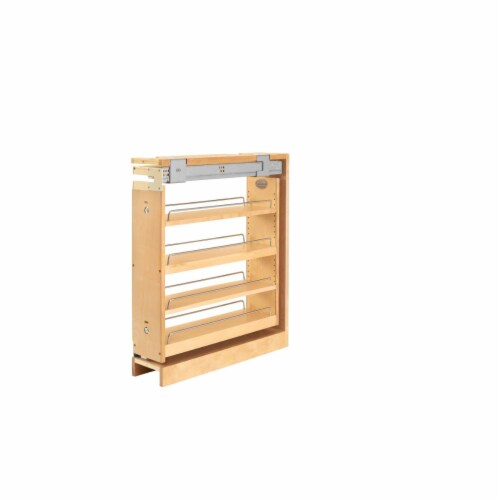 Base Cabinet Pullout Organizer with Top Slide Sink & Base Accessories, Natural Maple - 27.31 Perspective: front