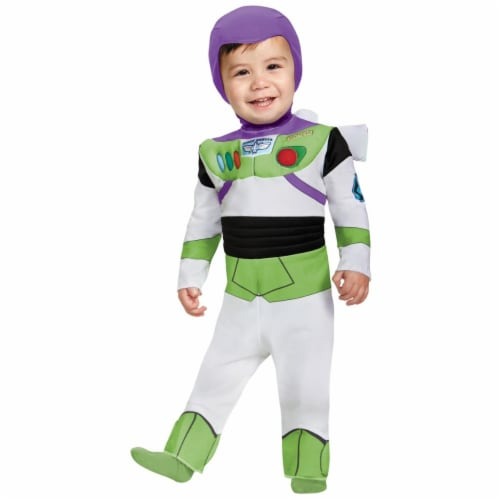 Buzz Light Year Deluxe Infant Costume, Size 12-18 Perspective: front