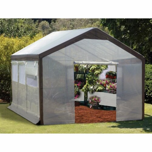 Replacement Greenhouse Cover for Complete Set - 9 ft. x 10 ft. x 20 ft. Perspective: front