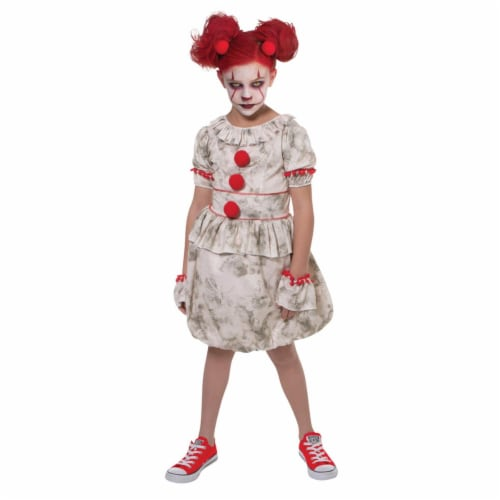 Dancing Clown Child Costume, Size 8-10 Perspective: front
