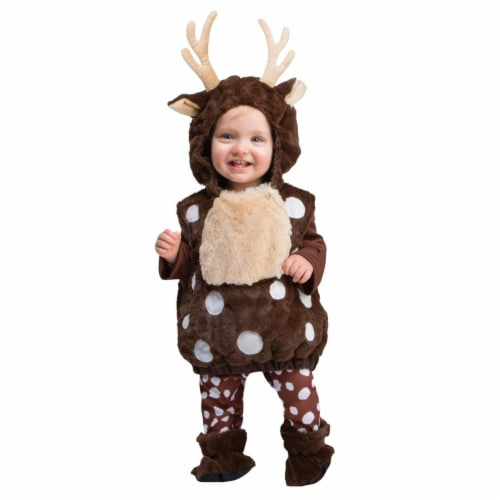 Oh Deer Toddler Hoodie, Size 3T-4T Perspective: front