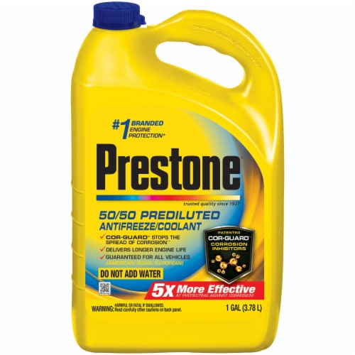 Prestone 50/50 Prediluted Antifreeze & Coolant Perspective: front