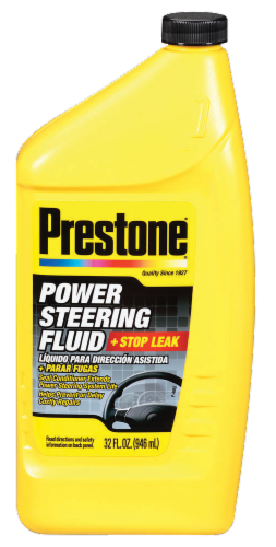 Prestone® Power Steering Fluid with Stop Leak Perspective: front