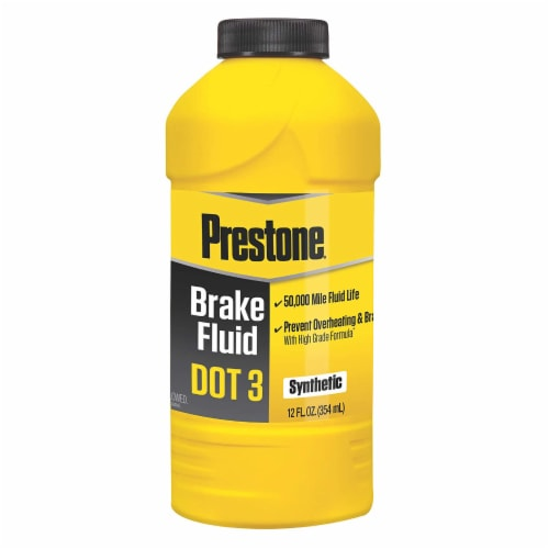 Prestone DOT High Temperature Synthetic Brake Fluid Perspective: front