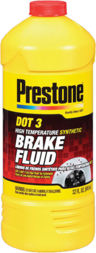 Prestone Synthetic Brake Fluid Perspective: front