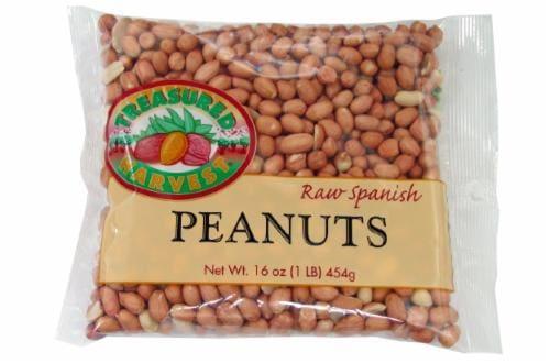 Treasured Harvest Raw Spanish Peanuts Perspective: front
