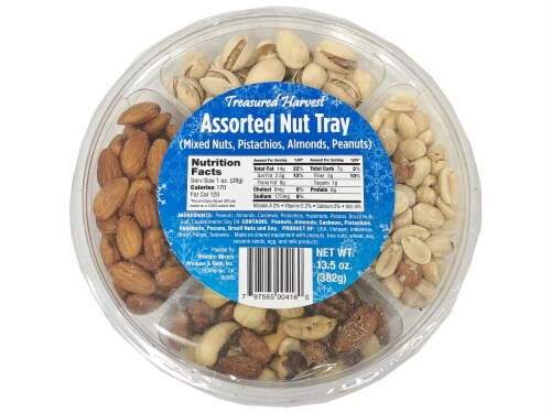 Treasured Harvest Assorted Nut Tray Perspective: front