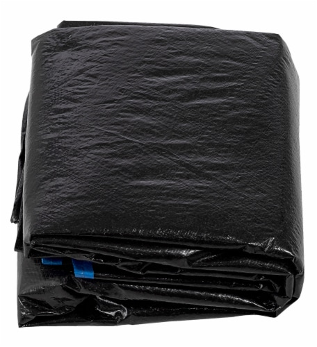 Economy Trampoline Weather Protection Cover, Fits for 16 FT. Round Frames - Black Perspective: front