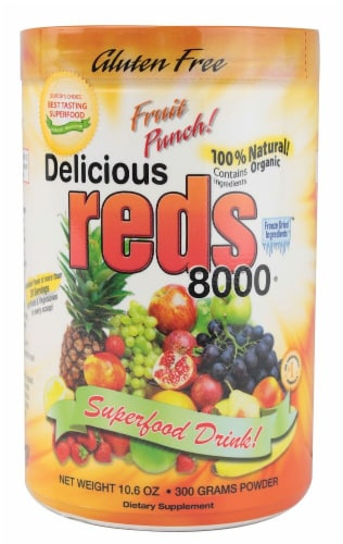 Greens World Inc.  Delicious Reds 8000   Fruit Punch Perspective: front