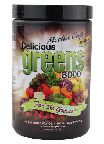 Greens World Inc.  Delicious Greens 8000   Mocha Cafe Perspective: front