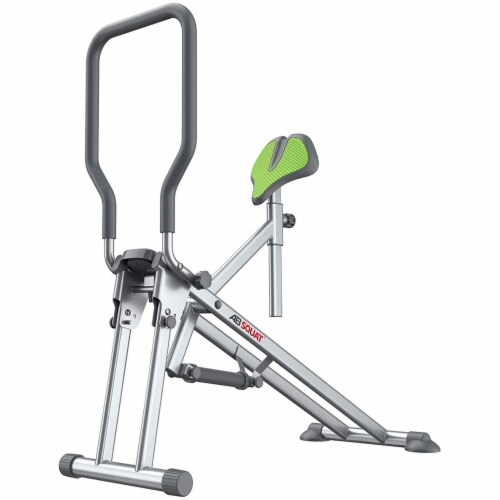 Star Uno Wellness Ab Squat Fitness Machine Home Gym Workout Equipment, Silver Perspective: front