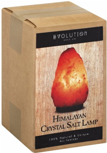 Evolution Salt Co. Himalayan Crystal Salt Lamp Perspective: front