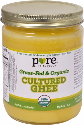 Pure Indian Foods  Grass-Fed & Organic Cultured Ghee Perspective: front