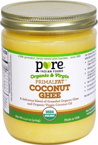 Pure Indian Foods Organic & Virgin PrimalFat® Coconut Ghee Perspective: front