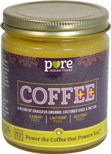 Pure Indian Foods  Coffee++ Creamer Cultured Ghee & MCT Oil Perspective: front
