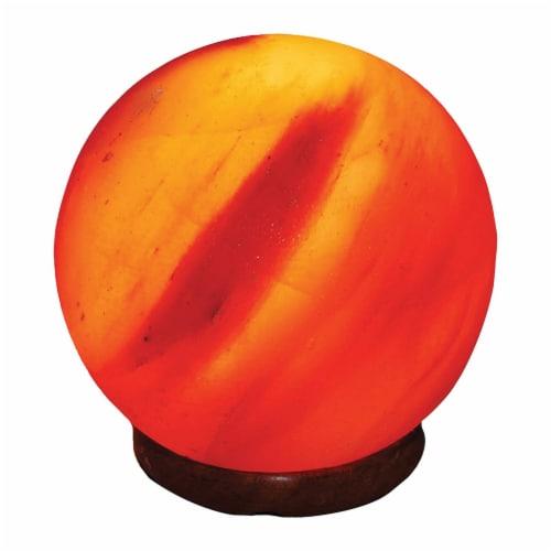 Evolution Salt Crystal Salt Lamp - Sphere - 6 inches - 1 Count Perspective: front