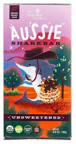 Australian Carob  Organic Aussie SharkBar Carob Chocolate   Unsweetened Perspective: front