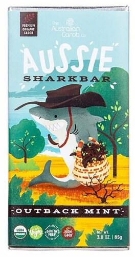 Australian Carob  Organic Aussie SharkBar Carob Chocolate   Outback Mint Perspective: front