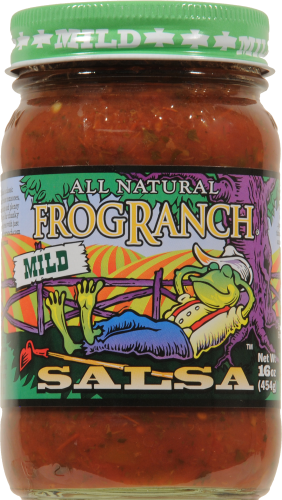 Frog Ranch Mild Salsa Perspective: front