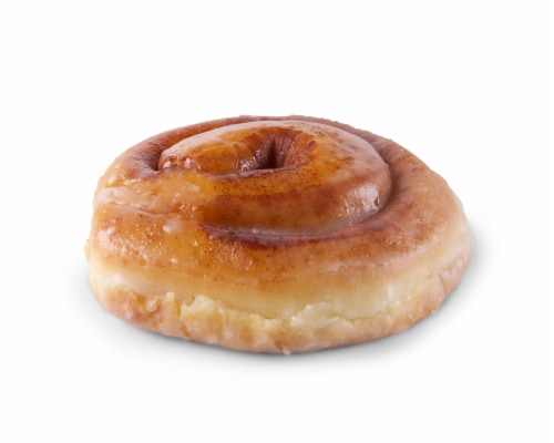 Prairie City Bakery Classic Glazed Cinnamon Roll Donut, 13.5 Ounce -- 6 per case. Perspective: front