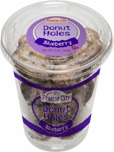 Prairie City Blueberry Donut Holes, 5 Ounce -- 12 per case. Perspective: front