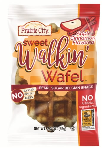 Prairie City Bakery Individually Wrapped Apple Cinnamon Walkin Wafel, 2.3 Ounce -- 36  case. Perspective: front