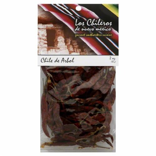 Los Chileros Whole Dried Arbol Chiles Perspective: front