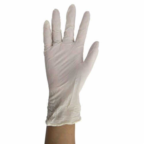 Vertak Nitrile Disposable Gloves Small White 100 pk - Case Of: 1; Perspective: front
