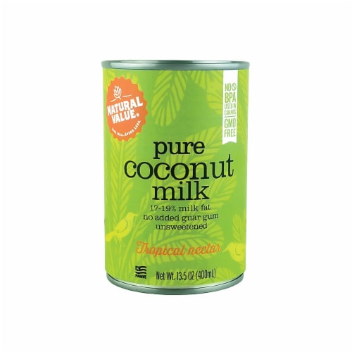 Natural Value Coconut Milk / 13.5 oz. Cans / 12-ct. case Perspective: front