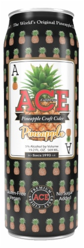 Ace California Pineapple Craft Cider Perspective: front