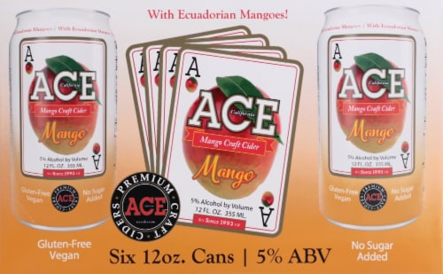 Ace Mango Craft Cider Perspective: front