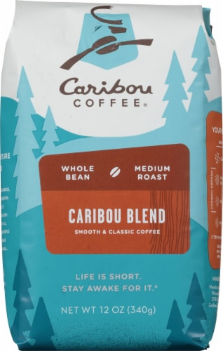 Caribou Coffee Caribou Blend Whole Bean Medium Coffee Perspective: front