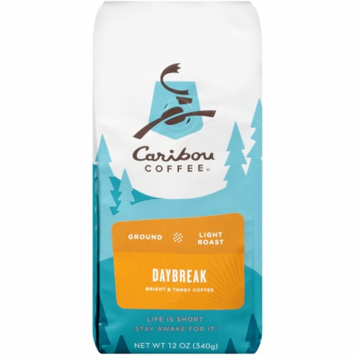 Caribou Daybreak Morning Blend Light Roast Ground Coffee Perspective: front