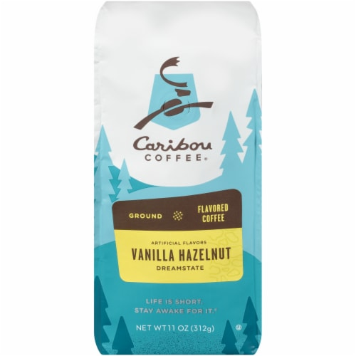 Caribou Coffee Vanilla Hazelnut Dreamstate Ground Coffee Perspective: front