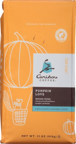Caribou Coffee Pumpkin Love Ground Coffee Perspective: front