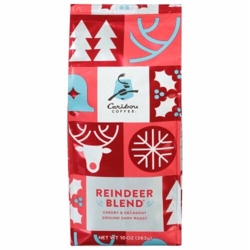 Caribou Coffee Reindeer Blend Dark Roast Ground Coffee Perspective: front