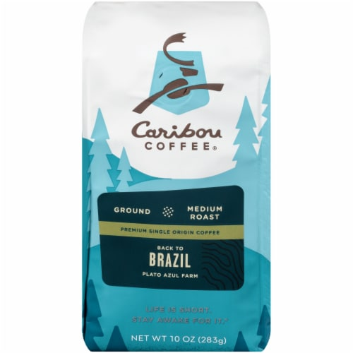Caribou Coffee Back to Brazil Medium Roast Ground Coffee Perspective: front