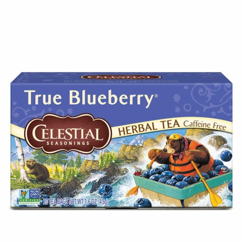 Celestial Seasonings, True Blueberry Herb Tea, 20 ct Perspective: front