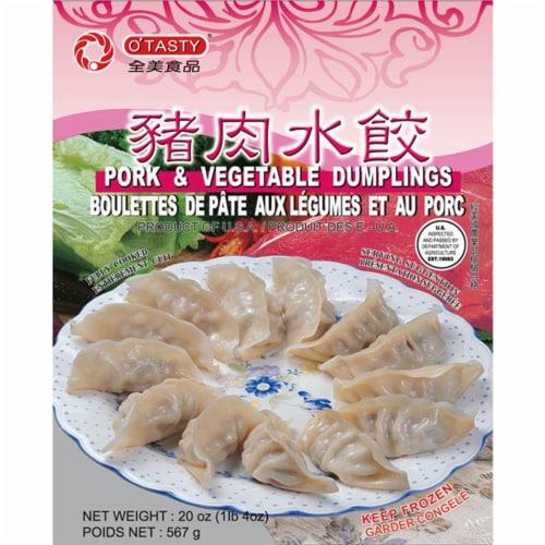 O'Tasty Pork & Vegetable Dumplings Perspective: front