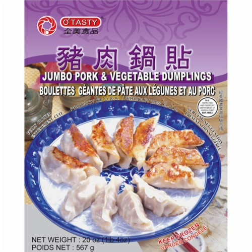 O'Tasty Jumbo Pork & Vegetable Dumplings Perspective: front